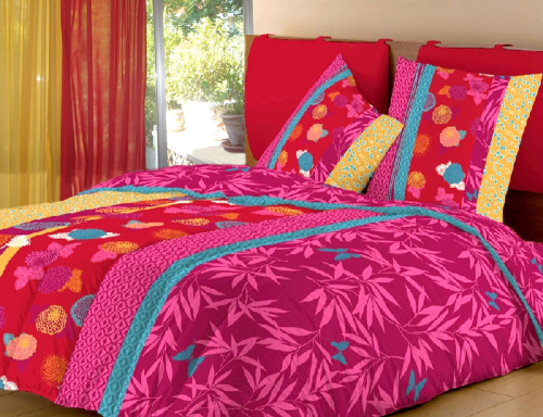 couette imprim e bombay 220x240. Black Bedroom Furniture Sets. Home Design Ideas