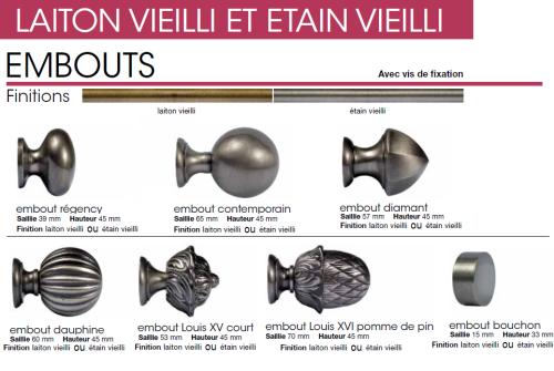 Tringles à Rideaux - Diamètre 28mm - Type 2 - Decolotel.fr